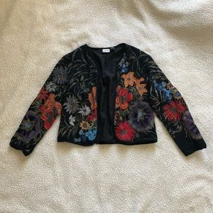 Chico's | Embroidered Floral Cardigan